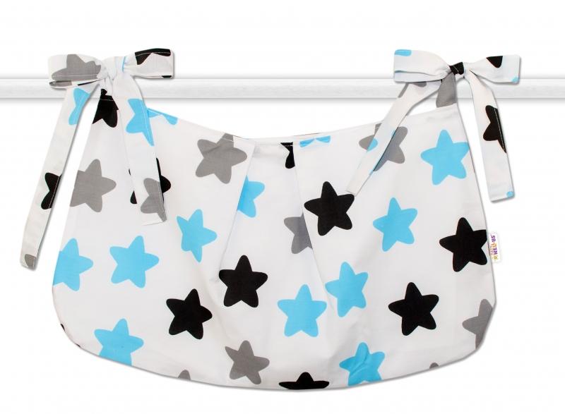 Kapsář na hračky Barevné hvězdíčky - modré