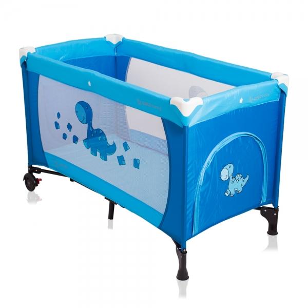 Cestovní postýlka SAMBA DINO CoTo Baby modrá