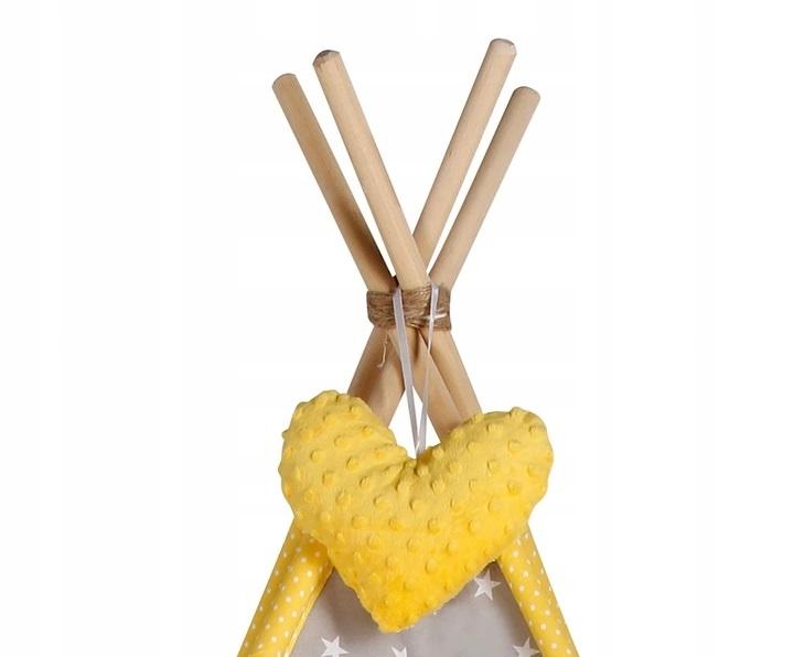 Baby Nellys Stan pro děti týpí s velkou výbavou - šedý, žlutý