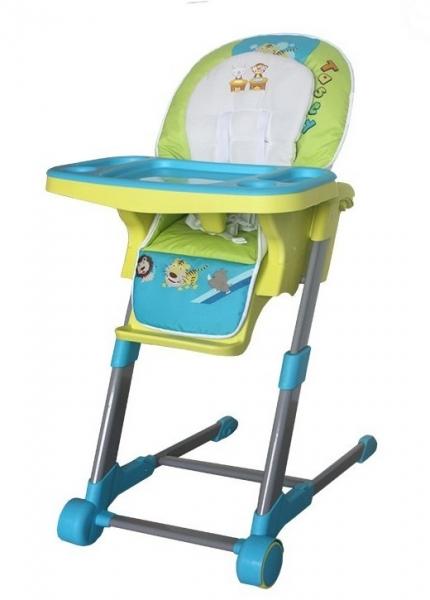 Dětská multifunkční jídelní židle Euro Baby - modrá, zelená, D19