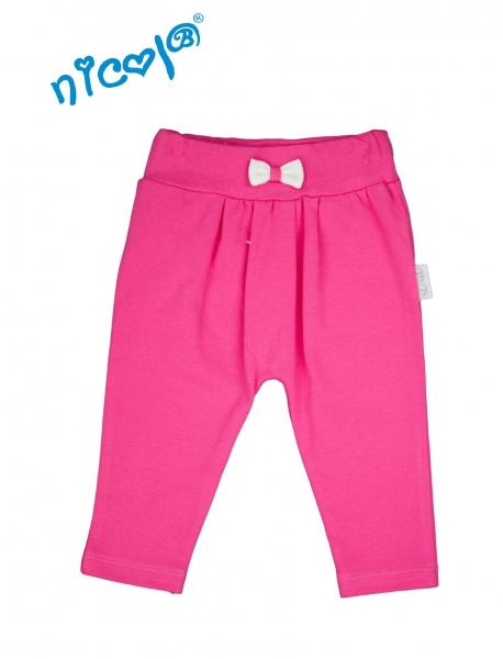 Dětské bavlněné tepláčky Lady - růžové, vel. 56, Velikost: 56 (1-2m)