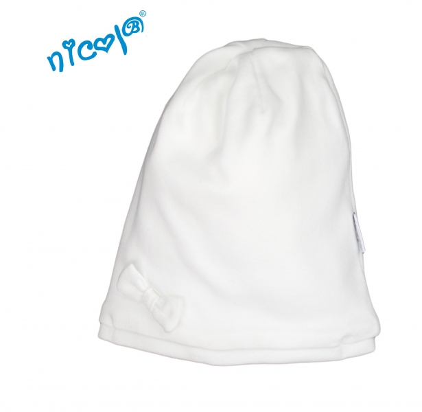 Dětská čepice Lady - bílá, vel. 80/86, Velikost: 80/86