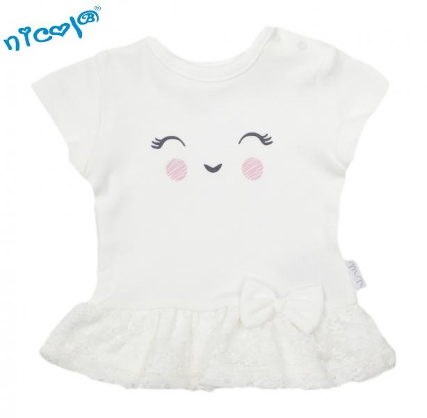 Nicol Bavlněné tričko Lady - krátký rukáv, vel. 68vel. 68 (4-6m)