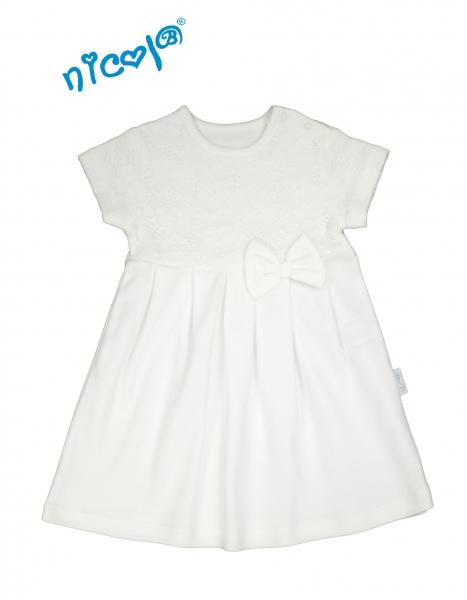 Kojenecké šaty Lady - bílé, vel. 86, Velikost: 86 (12-18m)