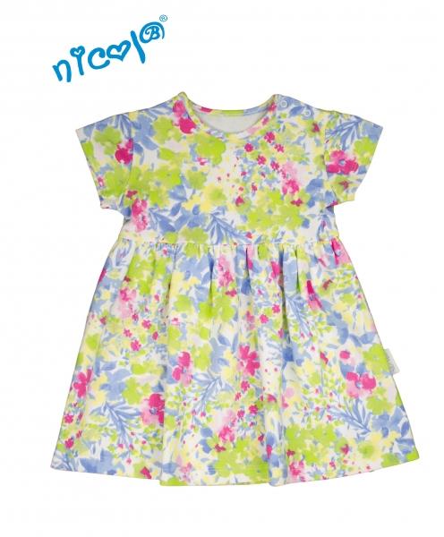 Kojenecké šaty Lady - květinový vzor, Velikost: 56 (1-2m)