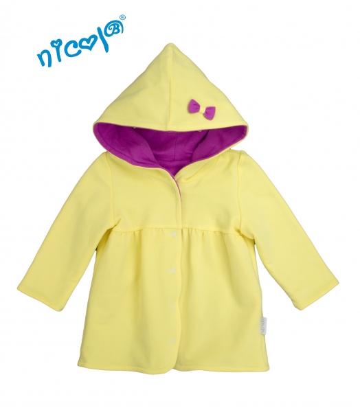 Kojenecký kabátek/bunda Lady - žlutá/fialová, vel. 80, Velikost: 80 (9-12m)