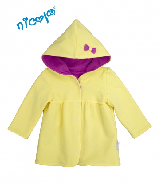 Kojenecký kabátek/bunda Lady - žlutá/fialová, vel. 86, Velikost: 86 (12-18m)