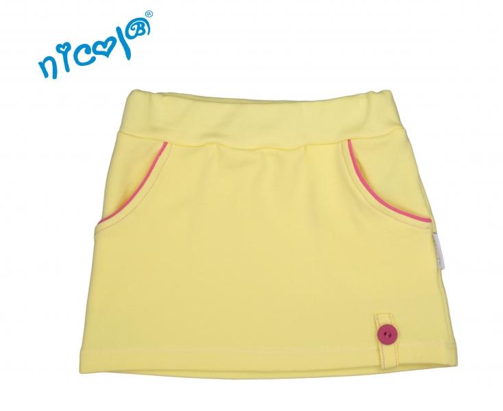 Kojenecká sukně Lady - žlutá, vel. 68