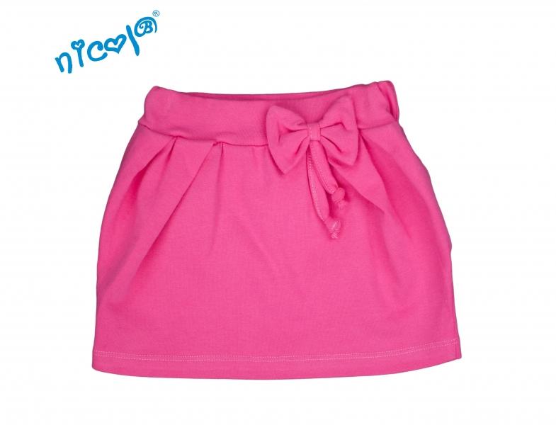 Kojenecká sukně Lady s mašlí - růžová, vel. 80, Velikost: 80 (9-12m)