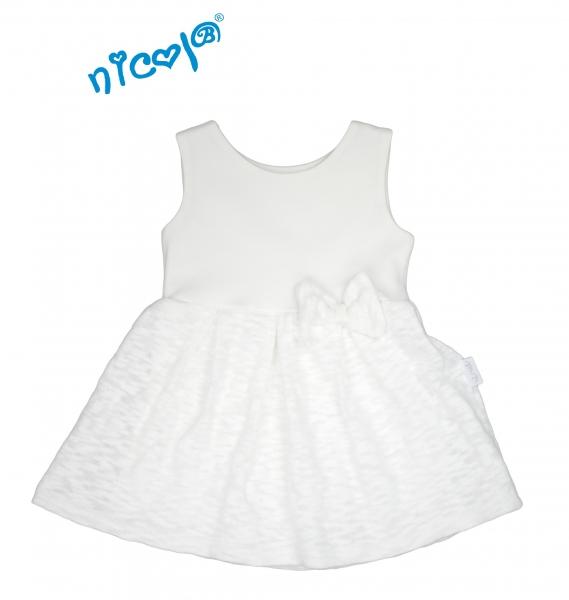 Kojenecké šaty Lady na ramínka - bílé, Velikost: 56 (1-2m)