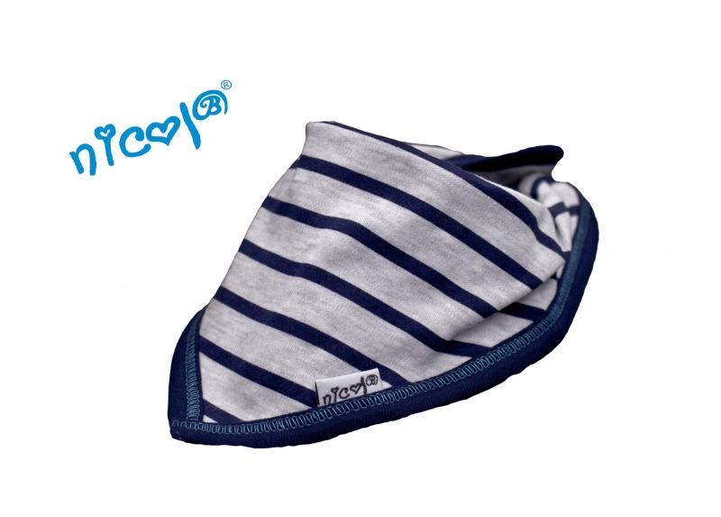 Dětský šátek na krk Nicol Car - pruhovaný