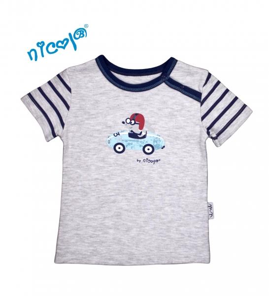 Bavlněné tričko Nicol, Car - krátký rukáv, vel. 68vel. 68 (4-6m)
