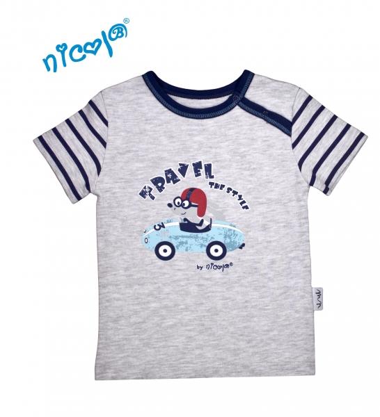 Bavlněné tričko Nicol, Car - krátký rukáv, vel. 98