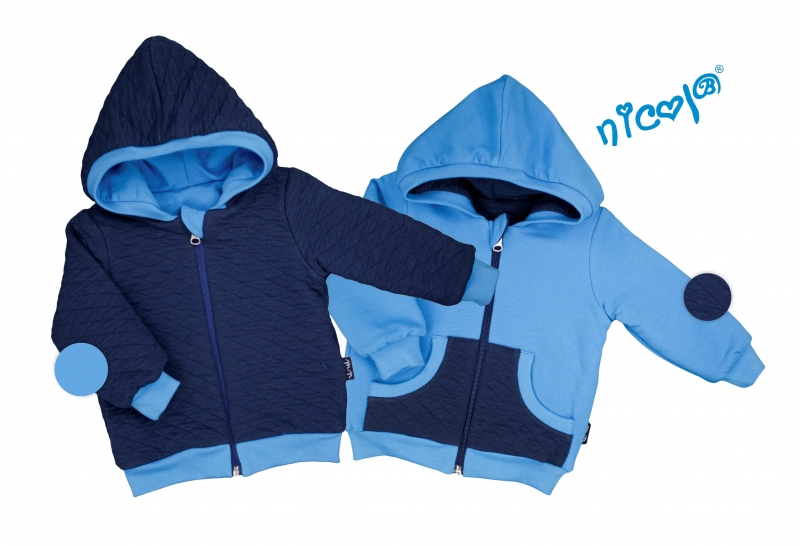 Dětská bunda Nicol oboustranná, Car - granát/modrá, vel. 62