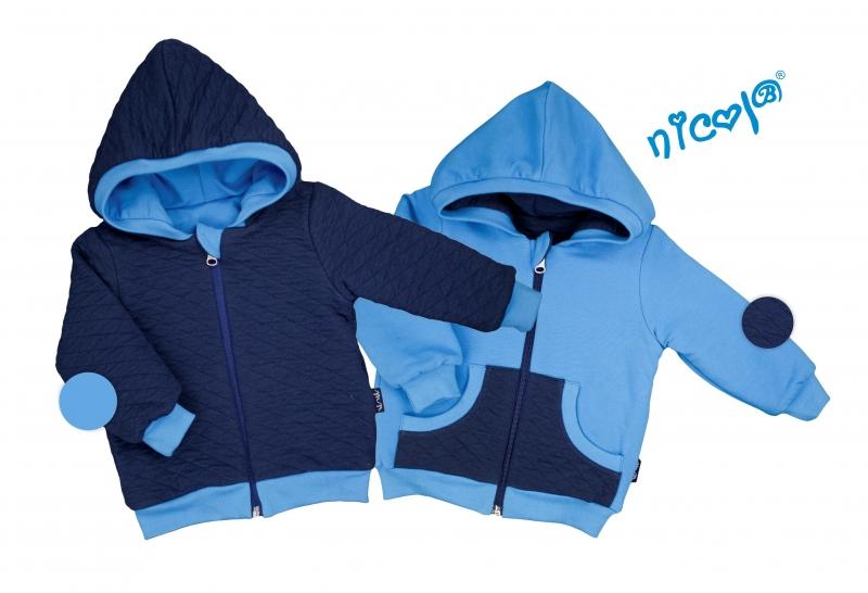 Dětská bunda Nicol oboustranná, Car - granát/modrá, vel. 92