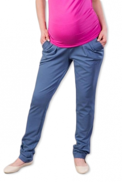 Těhotenské kalhoty/tepláky Gregx, Awan s kapsami - jeans, vel. XL