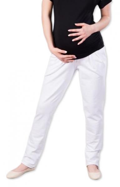 Těhotenské kalhoty/tepláky Gregx, Awan s kapsami - bílé