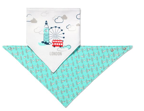 BabyOno Dětský bryndáček/šátek Baby Ono - London