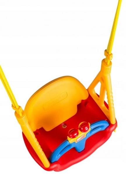 Eco toys Zahradní houpačka 3v1 - červeno/žlutá