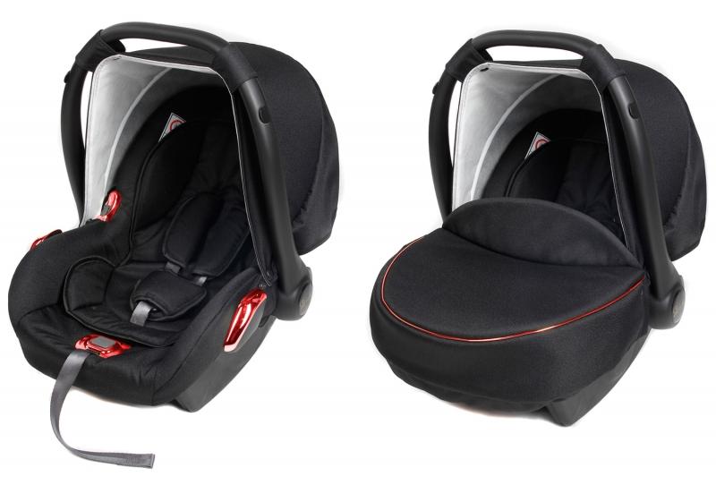 Dětská autosedačka/vajíčko RED METALIC - černá/červená