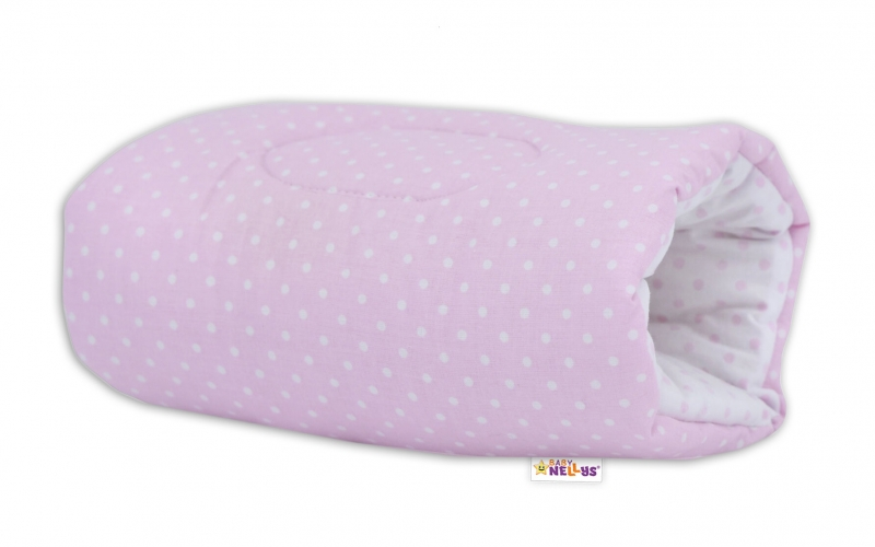 Baby Nellys  Kojící polštář na ruku Baby Nellys, Tečky - růžovo/bílé