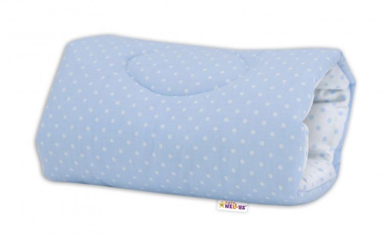 Baby Nellys  Kojící polštář na ruku Baby Nellys, Tečky - modro/bílé