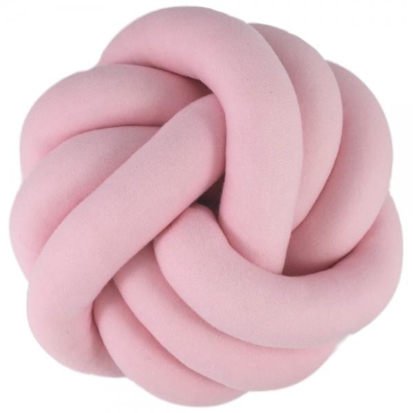 Tutumi Dekorační plyšový polštář Handmade Uzlík - růžový