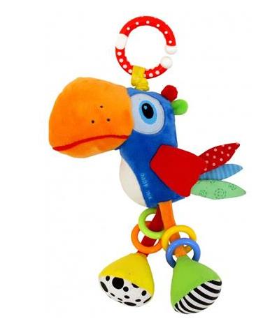 Závěsná plyšová hračka Baby Mix s chrastítkem  -Tukan