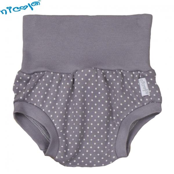 Bavlněné kalhotky, kraťásky Nicol, Paula - šedé, vel. 3-6 m