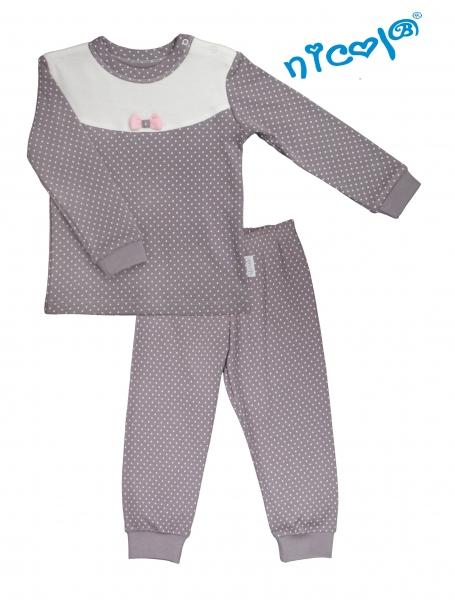 Dětské pyžamo Nicol, Paula - šedo/bílé, vel. 92, Velikost: 92 (18-24m)
