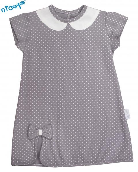 Kojenecké šaty Nicol, Paula - šedé, vel. 74