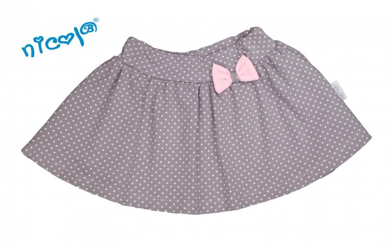 Kojenecká sukně Nicol, Paula - šedá, vel. 80, Velikost: 80 (9-12m)
