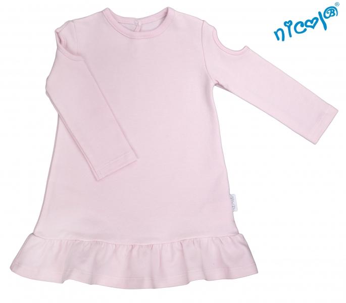Kojenecké šaty Nicol, Paula - růžové, Velikost: 56 (1-2m)