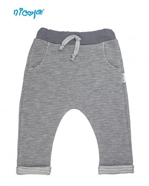 Kojenecké bavlněné tepláky Nicol, Rhino - šedé, vel.62, Velikost: 62 (2-3m)