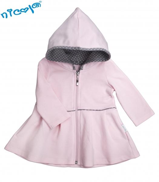 Dětský kabátek/bundička Nicol, Paula - růžová, vel. 80