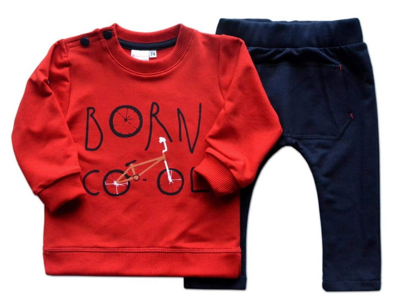 K-Baby Tepláková souprava Born Cool - červená/granát, Velikost: 68 (4-6m)