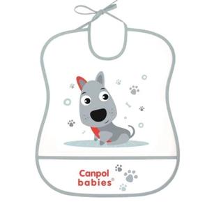 Canpol babies Plastový bryndák s kapsičkou Cute Animals - Pejsek