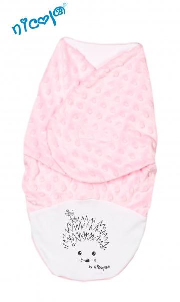 Minky Nicol zavinovací deka, zavinovačka  Ježek - růžová