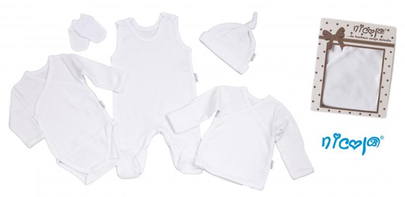 Soupravička do porodnice 5D Nicol - bílá