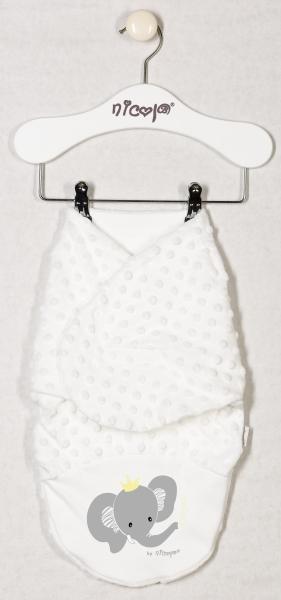 Minky Nicol zavinovací deka, zavinovačka Sloník - smetanová
