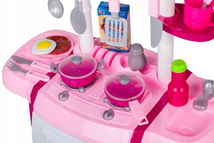 Dětská kuchyňka s příslušenstvím - růžová