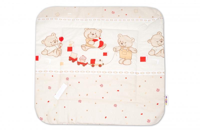Novorozenecká zavinovačka, 75x75cm - Medvědí zábava - béžové