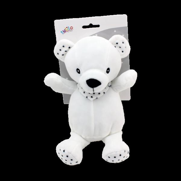 Plyšová hračka Tulilo Medvídek, 20 cm - black&white, K19