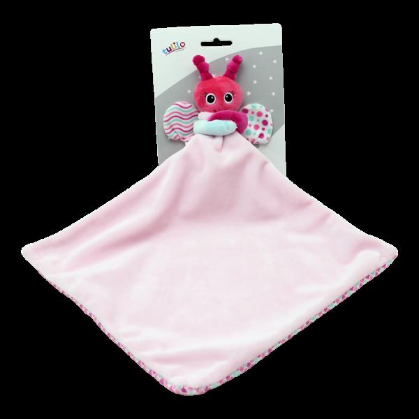 Přítulníček, mazlík Tulilo Motýlek, 25x25 cm - růžový, K19