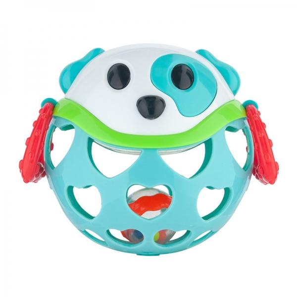 Interaktivní hračka Canpol Babies, míček s chrastítkem - Pejsek tyrkysový