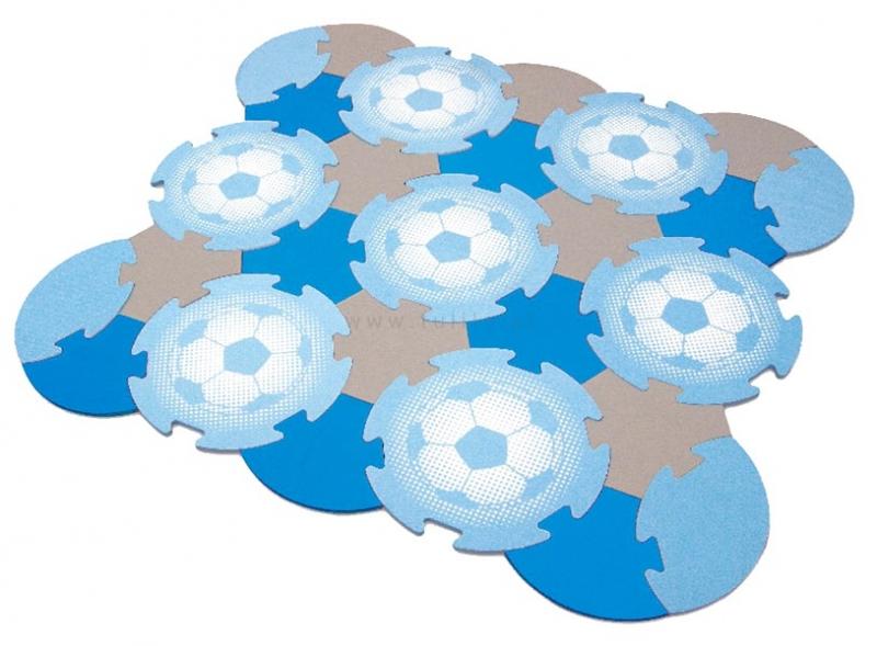 Tulilo Dětská hrací podložka puzzle, 27 ks - fotbal, K19