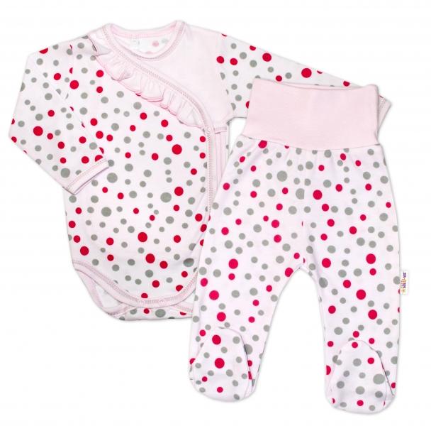 2-dílná kojenecká sada Baby Nellys - Puntíky - růžová