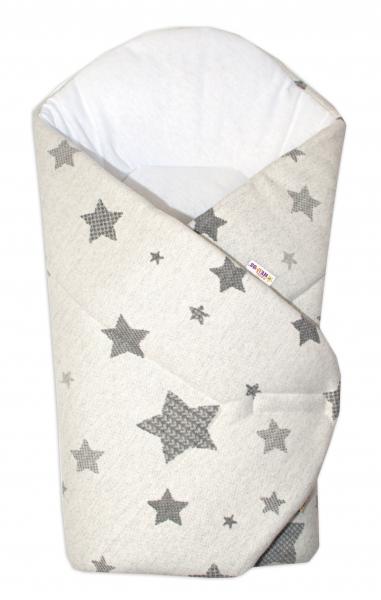 Novorozenecká zavinovačka Hvězda Baby Nellys z úpletu - šedá