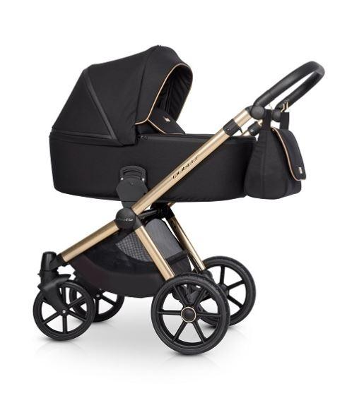 Dětský kočárek 2v1, Riko 2019 - Qubus Gold - černý