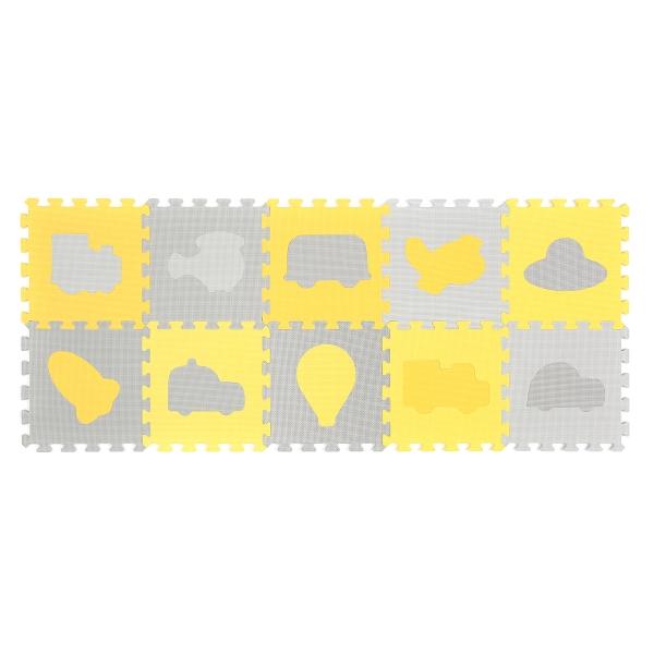 BabyOno Pěnové puzzle - Dopravní prostředky - 10 ks 394/01